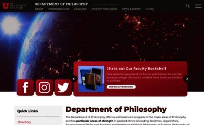 Philosophy utah edu website  Department of Philosophy