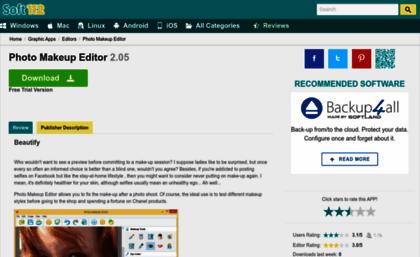Photo-makeup-editor soft112 com website  Photo Makeup Editor 2 05