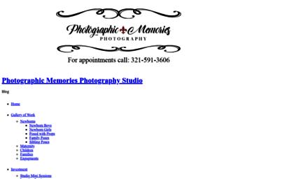 Photographicmemoriesstudio com website  Photographic