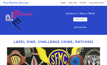Pins-patches-etc com website  Pins-patches-etc com - Custom Lapel