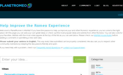 Planetromeo website