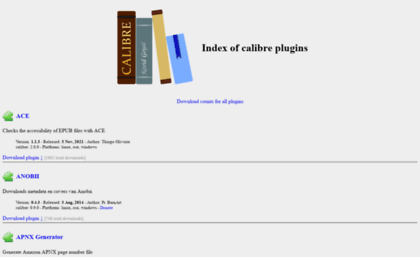 Plugins calibre-ebook com website  Index of calibre plugins
