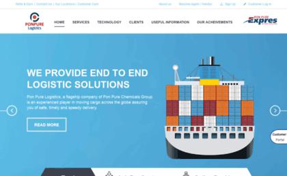 Ponpurelogistics com website  Pon pure logistics provide end to end