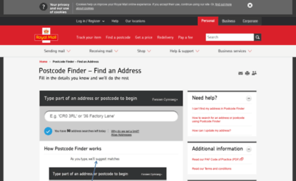 royal mail postcode and address finder