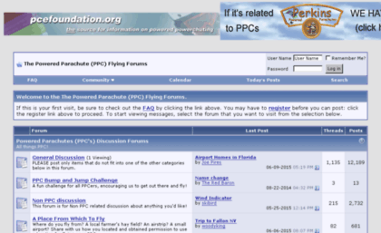 Ppcflyingforums com website  The Powered Parachute (PPC