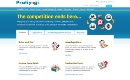 Pratiyogi com website  Free Online Exam Preparation, Free Online