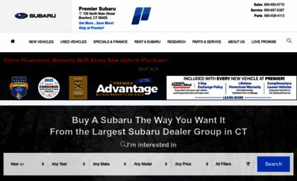 Subaru Dealers Ct >> Premiersubaru Com Website Connecticut New And Used Subaru