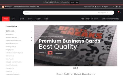 Premiumcards Website Premium Business Cards Custom Marketing