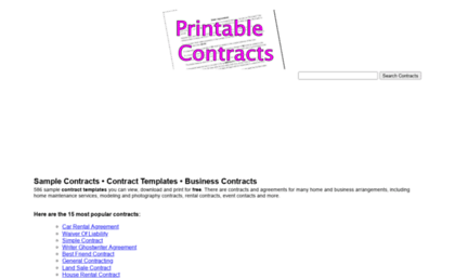 Printablecontracts.com  Printable Contracts