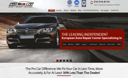 Procarmechanics com website  European Auto Repair, Service
