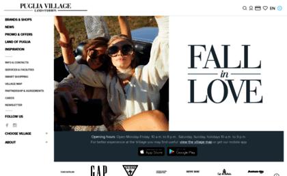 Pugliaoutlet.it website. Puglia Outlet Village.