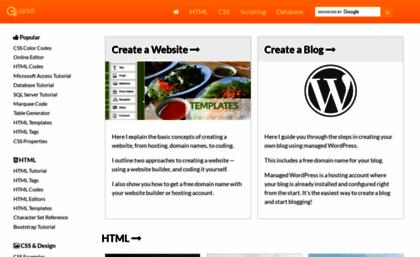 Quackit com website  Quackit Tutorials