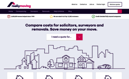 reallymoving com website get quotes for moving house