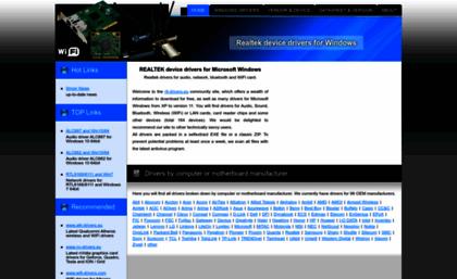 Realtek cz website  REALTEK device drivers for Microsoft Windows