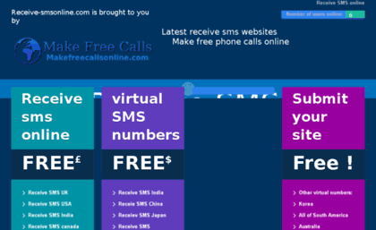 Receivesmsonlineforfree com website  Receive sms online | The Home