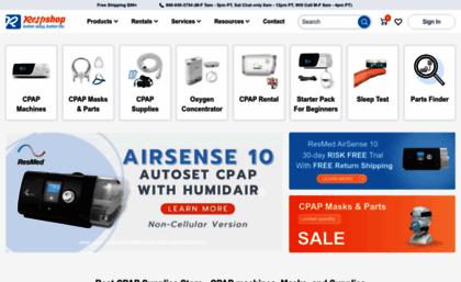 Respshop com website  Cheapest CPAP Machines & Supplies