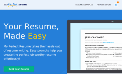 Resumesandcoverletters.com  My Perfect Resume.com