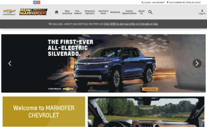 Ronmarhoferchevy Com Website New Used Chevy Dealer In Stow Oh