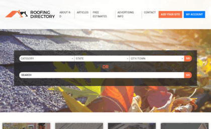 Roofing-directory com website  Roofing Directory - Find