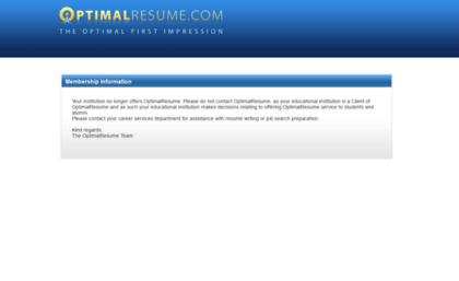 optimum resume