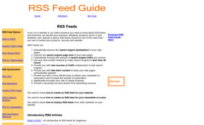 Rssfeedguide com website  Learn about RSS Feeds & RSS