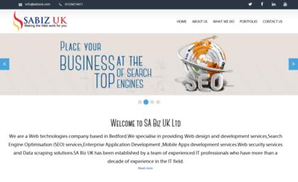 Sabizuk com website  SABIZ UK