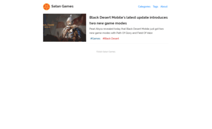 Satangames com website  Scary Games at SatanGames com