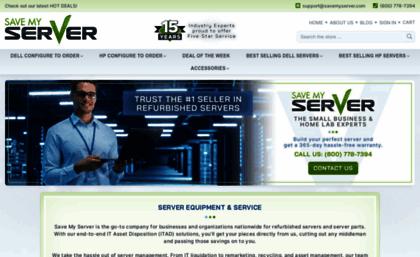 Savemyserver com website  Refurbished Servers - Rack, Tower, Storage