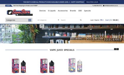 Savestore co za website  SaveStore E-Liquids E-Cigarettes