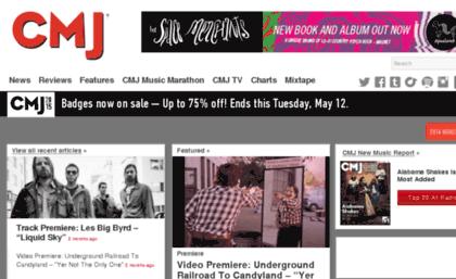 Schedule cmj com website  CMJ | Music News, Album Reviews