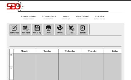 schedulebuilderonline com website free schedule builder online