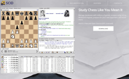 Scid sourceforge net website  Scid - Chess Database Software