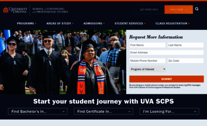Scps virginia edu website  University of Virginia School of
