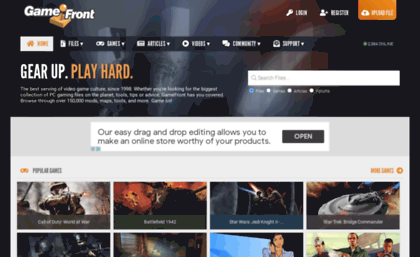 Search filefront com website  GameFront - Files | Mods