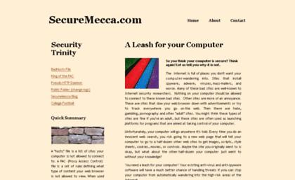 Securemecca com website  SecureMecca com