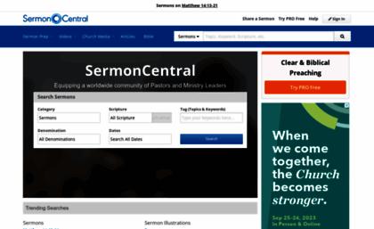 Sermoncentral com website  Free sermon preparation tools