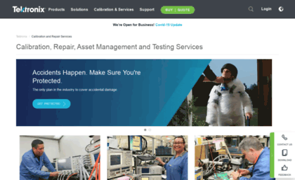 Service-solutions.tektronix.com website. Calibration and Repair ...
