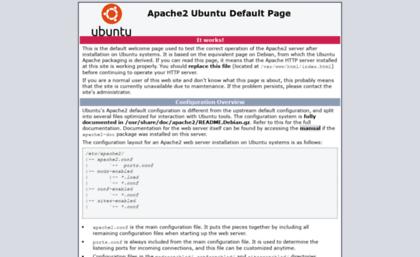 Sf2midi com website  Apache2 Ubuntu Default Page: It works