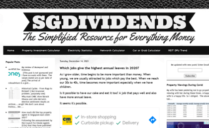 Sgdividends blogspot sg website  The Simplified Resource For