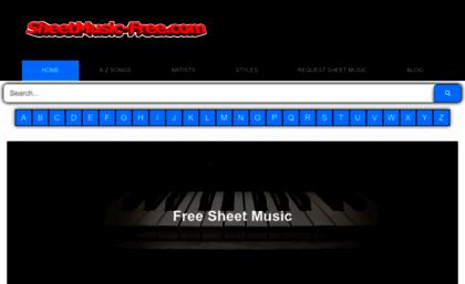 Sheetmusic-free com website  FREE SHEET MUSIC PDF : Free Piano Sheet