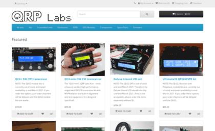 Shop qrp-labs com website  QRP Labs shop