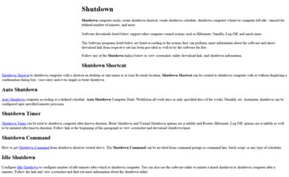 Shutdown cc website  Shutdown Shortcut, Auto Shutdown