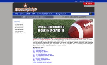 Sidelinemvp com website  Shop NFL Helmets, NFL Merchandise