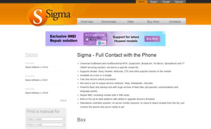 Sigmakey com website  Sigma - MTK, Qualcomm, Broadcom, TI
