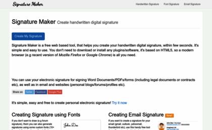 Signature-maker.net website. Signature Maker - Create your ...