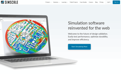 Simscale de website  SimScale - CFD, FEA, and Thermal Simulation in