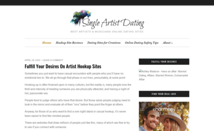 dating site for artists and musicians