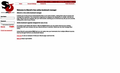 sitejot com website sitejot free online bookmark manager bookmark