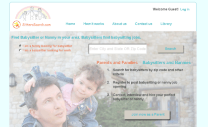 Sitterssearch.com website. Find babysitter or nanny by zip for ...