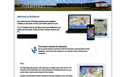 Skydemon aero website  Welcome to SkyDemon, VFR Flight Planning